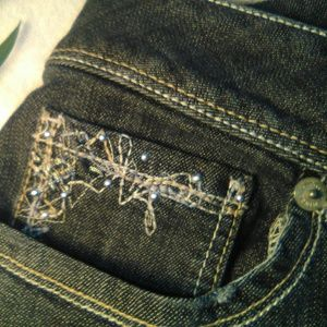 torrid embroidered jeans size 22